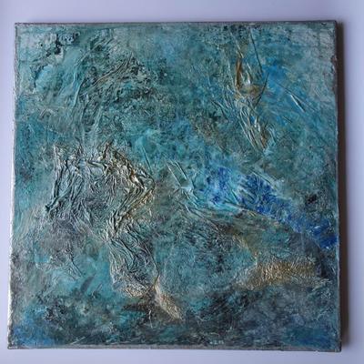 50 x 50 cm - Acryl, Strukturmaterialien