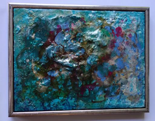 40 x 50 cm gerahmt - Wachs, Schellack