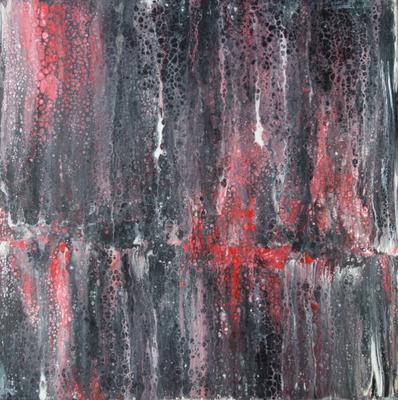 50 x 50 cm - Acryl, Silikonöl, Wasser, Fließmedium