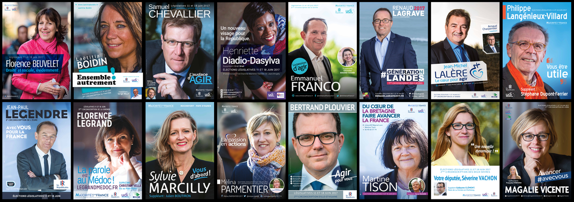 Affiches électorales, Législatives 2017