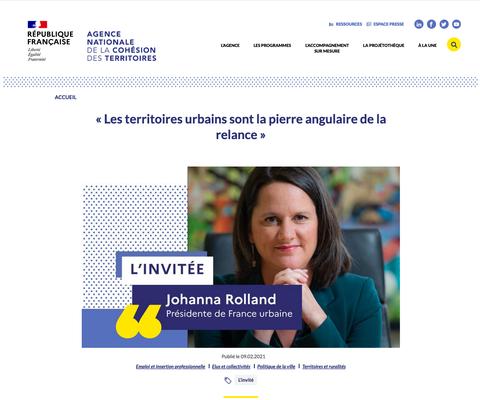 Johanna Rolland, maire de Nantes et présidente de Nantes Métropole