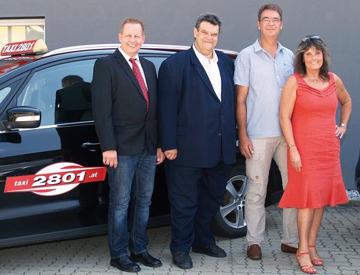 Taxi 2801-Aufsichtsrat: (v.l.) Michael Dornbusch (Vors.-Stv.), KommR Karlheinz Winkler (Vorsitzender), Martin Koberg, Karin Leitner