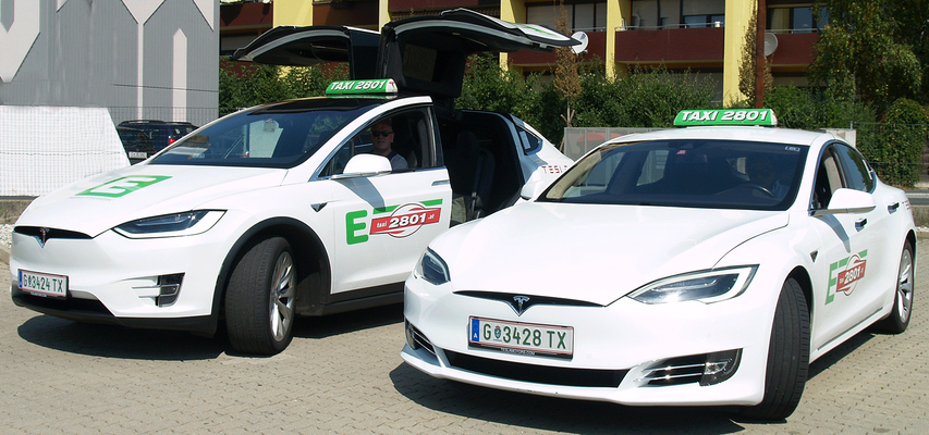 Manfred Breschan (Tesla Model X) und Jashim Bepari (Tesla Model S)