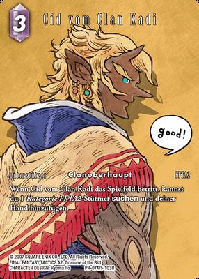 Cid vom Clan Kadi 5-103R | PR-074
