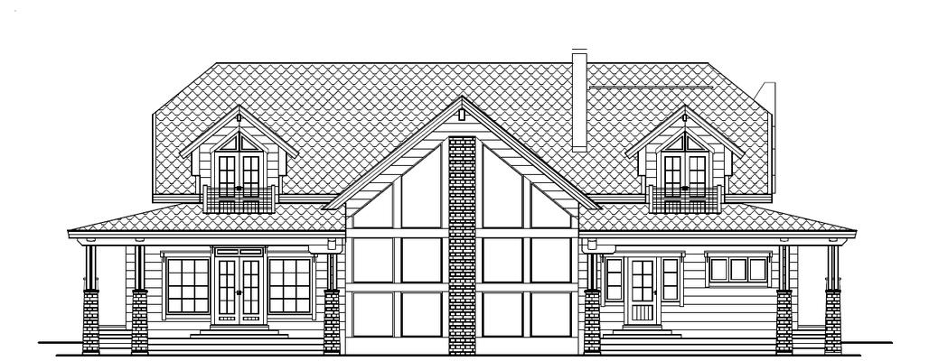 Plan maison bois face avant