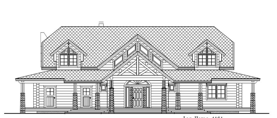 Plan maison bois face arriére
