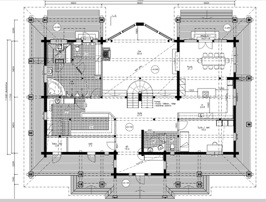 Plan maison bois RDC