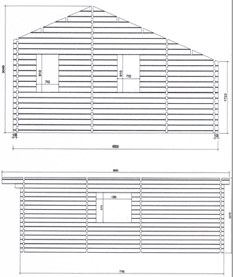 Plan de coupe chalet en kit