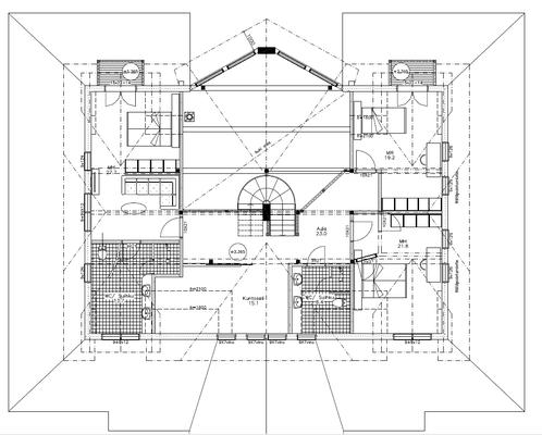 Plan maison bois 1er