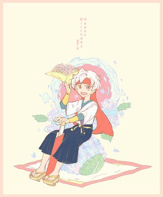06.19はジャンくんの誕生日!!おめでとう!! 和菓子と楊枝ソードです♪