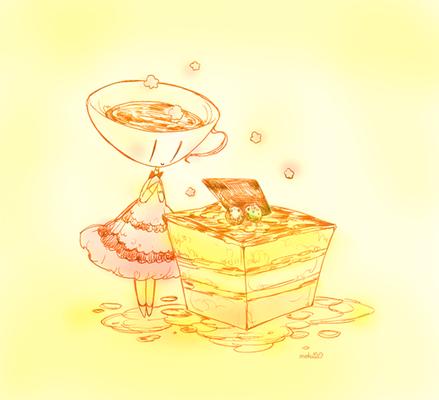 (いただいたケーキと嬢。)  0209