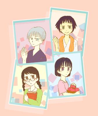 little girl.  (左上から時計回りにヨルハ、チサト、サチカ、ミサキ)