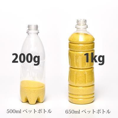 200gと1kgの量