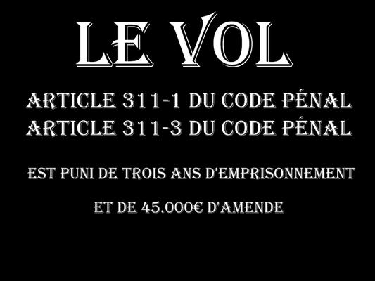 LE VOL Trois Ans d'emprisonnement et de 45.000€ d'amende  voir site www.maisonnonconforme.fr