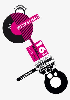 Bauhaus Plakate nach Joost Schmidt von Ömer, 1. Klasse Mediendesign / Technische Dokumentation.