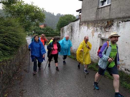 Iniciamos el Camino (10/07). Una etapa lluviosa.