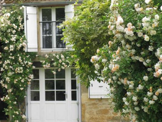 Eingang Ferienhaus Villa des Roses