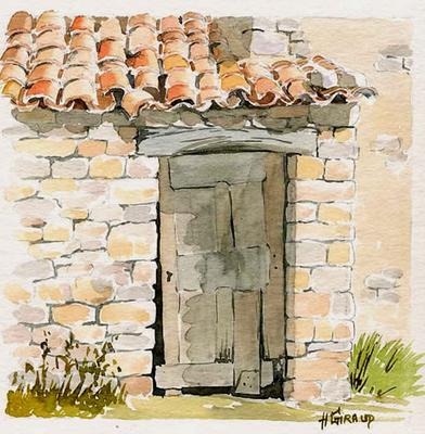 Aquarell Malreise Provence