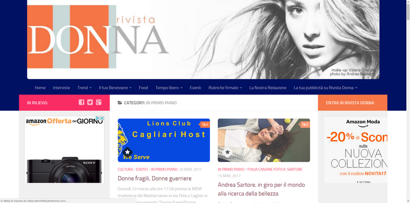 INTERVIEWED AND PUBLISHED ON DONNA MAGAZINE