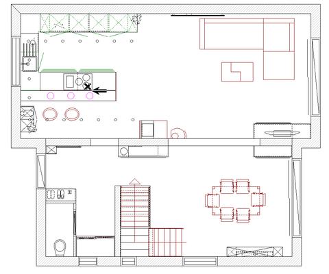 Plan meublé par Espace Conception selon le cahier des charges du client.