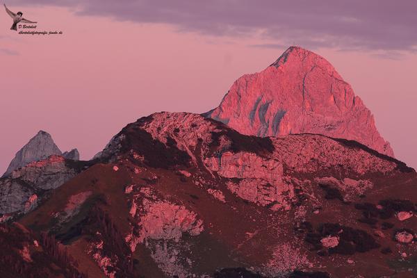 Alpenglühen am Abend