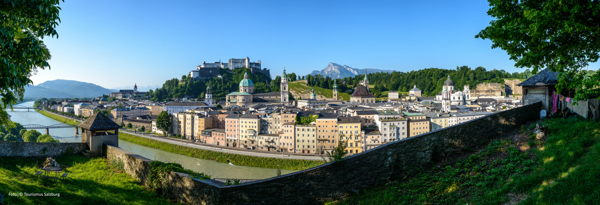 ..Tour above the rooftops of Salzburg..