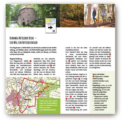 Flyer: Wandern im Steinfurter Land