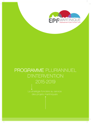 Programme Pluri-annuel d'Intervention de l'EPF de la Martinique
