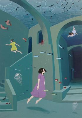 『幻想たる海底』オリジナル、授業課題、2016