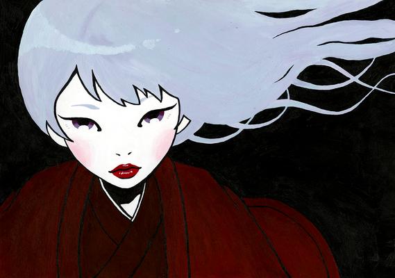 『銀髪の少女』オリジナル、授業課題、2014