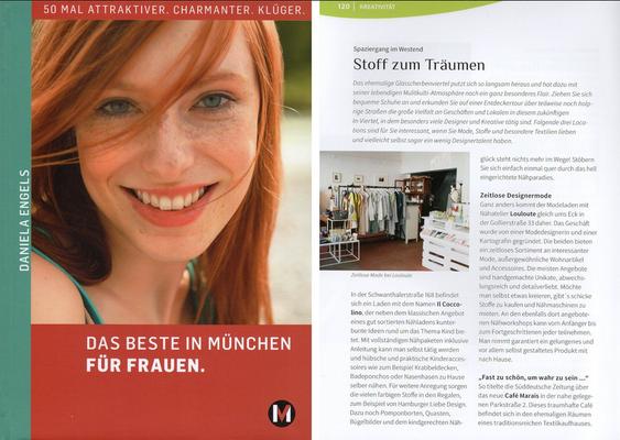 """""""Das Beste in München für Frauen"""",  Daniela Engels, MünchenVerlag, 2015"""