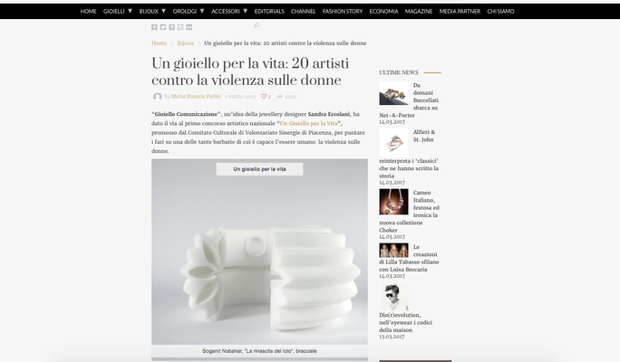 Nobahar Design Milano, contemporary jewelries, on Preziosa Magazine
