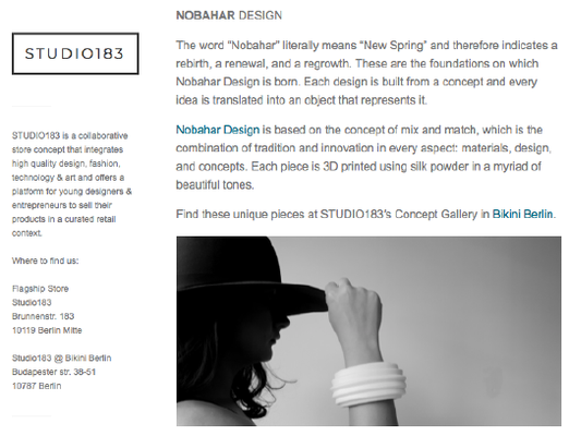 Nobahar Design Milano contemporary jewelries on Studio183 blog