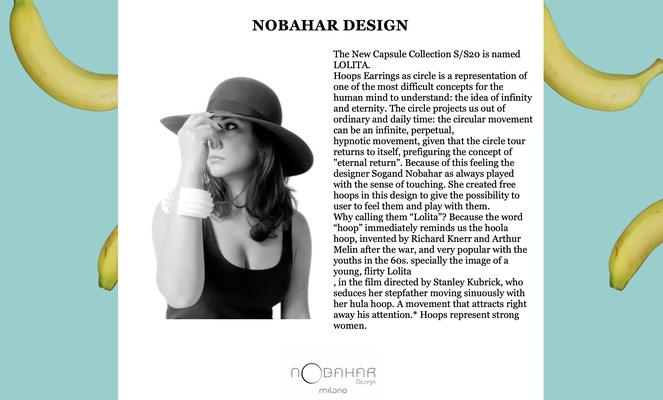 nobahardesign milano contemporary design jewelries - PFW 2020