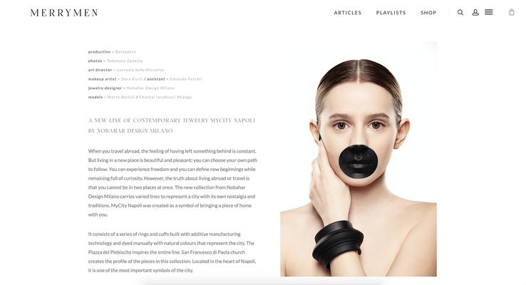 Merrymen magazine - nobahardesign milano contemporary design jewelries