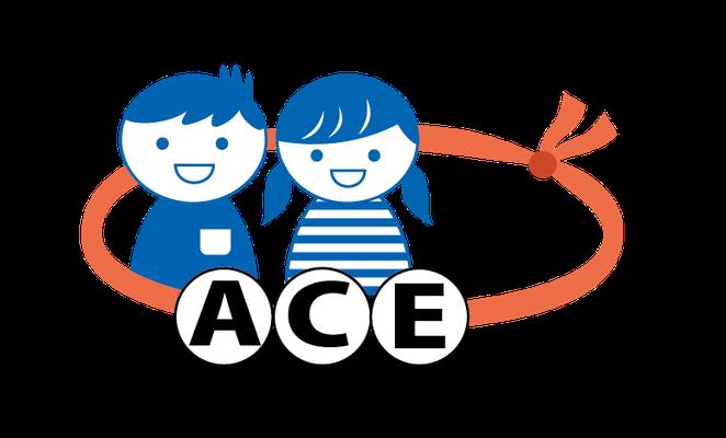 NPO法人 体験型安全教育支援機構(こどもの安全教育グループACE)ロゴマーク