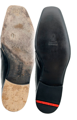 LLOYD Schuhreparatur mit 3/4 Ledersohle vorher