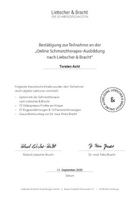 Liebscher&Bracht Schmerzspezialist online Ausbildung