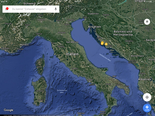 Murter liegt mittig in Kroatien - ca. 1.520 Straßenkilometer von Lüneburg entfernt