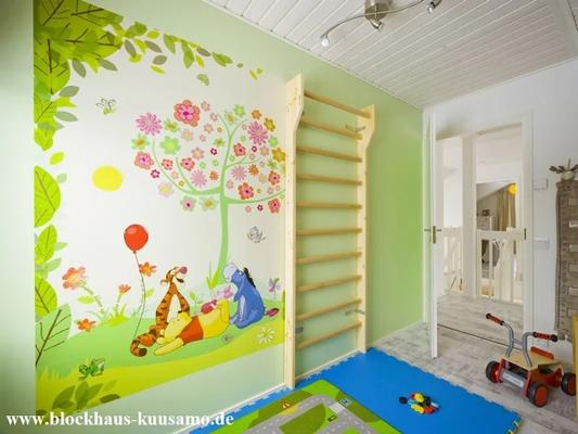 Kinderzimmer im Blockhaus  -  © Blockhaus Kuusamo