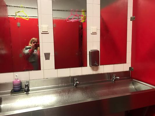 Waschraum - ich bin ganz alleine