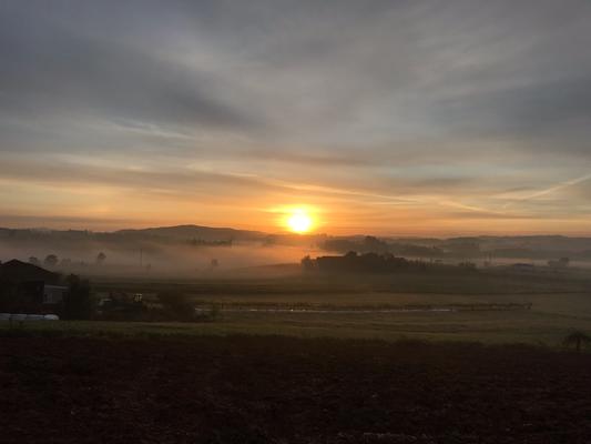 Vor 7 Uhr ein traumhafter Sonnenaufgang in Rates