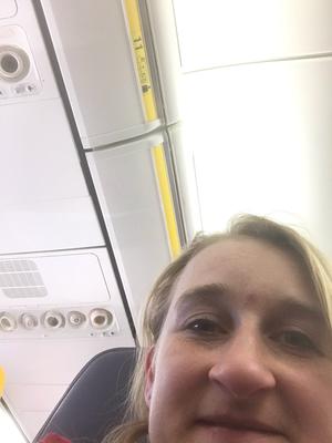 Im Flugzeug Reihe 11 :-D