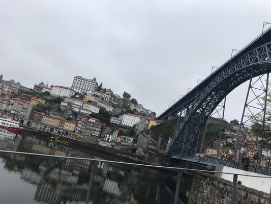 die Eisenbrücke am Fluss Rio Douro