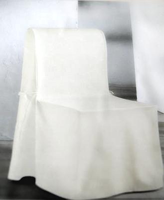 6 elfenbein-farbige Stuhlhussen (45 x 95 x 41cm) 100% Baumwolle > Fr. 17.–/Stk