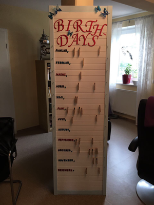 Geburtstagskalender Basteln Pflegezentrum Augsburgde