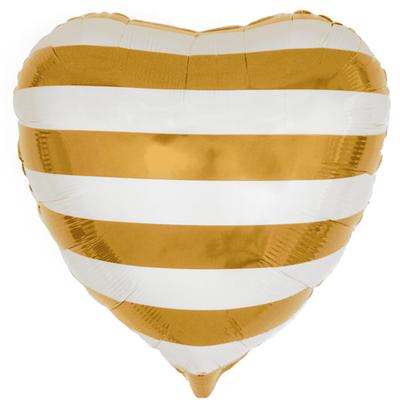 Сердце золотые  полосы воздух 120 р., гелий 170 р.