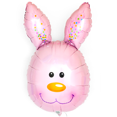 Голова зайца розовая выс. 70 см воздух 265 р., гелий 365 р.