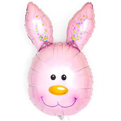 Голова зайца розовая выс. 70 см воздух 300 р., гелий 400 р.