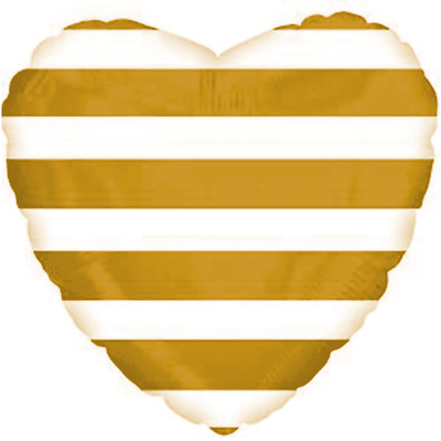 Сердце 45 см в золотую полосу воздух 120 р., гелий 170 р.